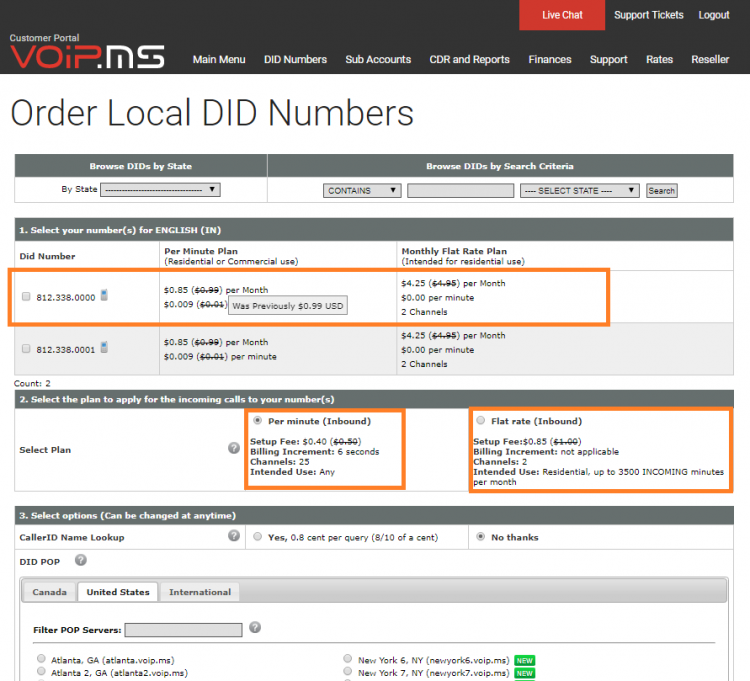 Order a DID Number - VoIP ms Wiki