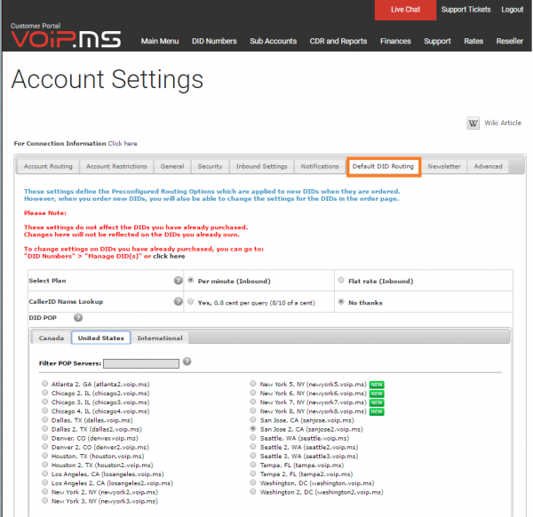 Account Settings - VoIP ms Wiki