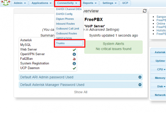 FreePBX / PBX in a Flash - VoIP ms Wiki