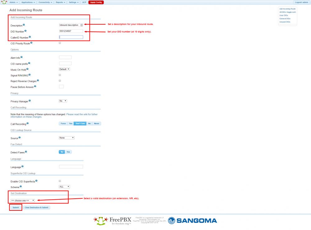 FreePBX / PBX in a Flash - VoIP ms Wiki