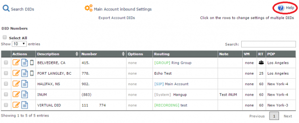 Manage DID - VoIP ms Wiki